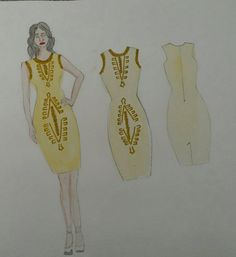 my final design using beads as embellishment based on the shapes of ferns and feathers V & A Museum, High Street Brands, The V&a, Fashion Gallery, Ferns, Feathers, Embellishments, Your Style, Evening Dresses