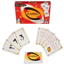 KARMA What Goes Around…Comes AroundTM  Soon to be another one of America's favorite card games. This game is a perfect present, especially for Five Crowns fans! Play your KARMA CARDS carefully to go out as soon as you can. KARMA is a great game that you will want to play again and again!