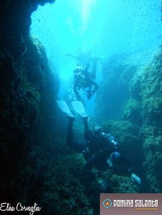 Diving in Grotta della Cattedrale, Torre Lapillo, by Orca Diving center