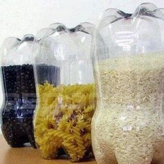 Not enough people recycle plastic for other uses in recycling facilities. A plastic bottle can be repurposed and reused for all sorts of projects.Here are 13 different (and somewhat surprising) survival uses for plastic bottles. Uses For Plastic Bottles, Reuse Plastic Containers, Diy Plastic Bottle, Recycle Bottles, Storage Containers, Dry Food Storage, Kitchen Storage, Storage Ideas, Reuse Old Tires