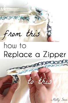 How to replace a zipper - How to fix a broken zipper by replacing it - video and tutorial by Melly Sews