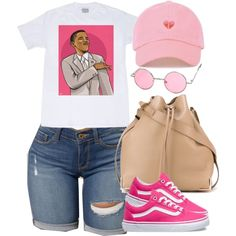 Wang and vans modische outfits, summer swag outfits, lit outfits, high scho Swag Outfits For Girls, Cute Swag Outfits, Teenage Girl Outfits, Teen Fashion Outfits, Dope Outfits, Look Fashion, Trendy Outfits, Summer Outfits, Lit Outfits