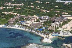 Catalonia Riviera Maya aerial view.  The Riviera Maya is to the right.
