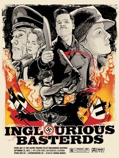 Inglorious Basterds poster design by Joshua Budich.