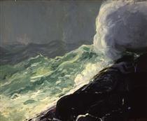 Churn and Break - George Bellows - 1913 - American Realism