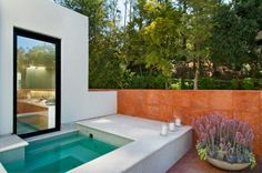 small above ground pool and a beautiful outdoor pool with small