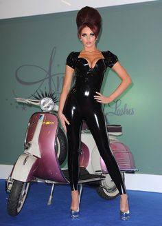 Amy Childs in Latex Rubber Catsuit