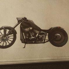 American chopper  #design4ndmore  #sketch #sketchbook #blackandwhite #paper #pencil #drawing #instadraw #motocycle #moto #chopper #americanchopper #custom #vintage #bobber #design American Chopper, Bobber, Baby Strollers, Sketch, Pencil, Photo And Video, Drawings, Paper, Painting