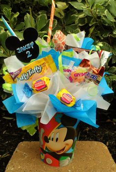 Mickey Mouse Clubhouse Kids Candy Party Favors Made to Order. $0.20, via Etsy.