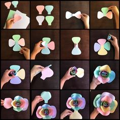 "228 Me gusta, 5 comentarios - Danielle Gonzales (@backdropinabox) en Instagram: ""Here is the step by step picture tutorial for my unicorn paper flower template center  I only…"""