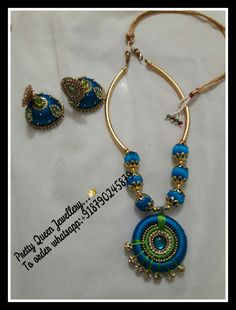Designer handmade silk thread jewellery.. Colours & sizes can be customized.. Orders undertakenn.. To order whatsapp; +918790245879 For more designs visit my page..  https://m.facebook.com/whatagirlwants66/  Happy shopping with us😊😊