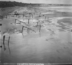 Normandy beach defenses, France, 6 May 1944 | World War II Database (US Marine Corps Robert Bare Collection)