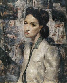 Portrait of Zaira Fortes, 1944 by Candido Portinari (Brazilian 1903-1962)