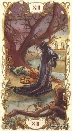 Death - Tarot Mucha by Lunaea Weatherstone