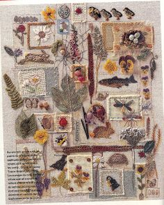 """""""A Country Feeling"""" ~ artist Lesley Turpin Delport   #embroidery #textile"""