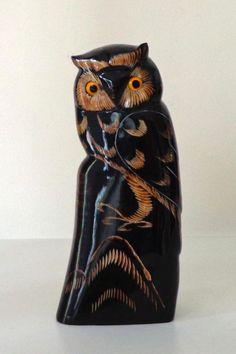 Owl made of buffalo horn.