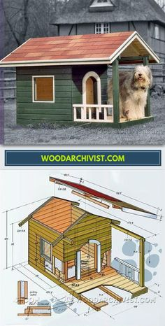 Dog House Plans - Outdoor Plans and Projects | WoodArchivist.com
