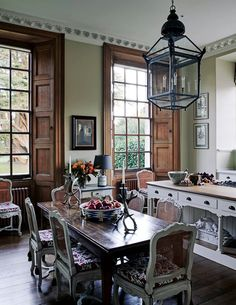 Georgian Mansion, Interior Design Guide, Interior Window Shutters, Christmas Decorations For The Home, French Cottage, Cuisines Design, French Country Decorating, Home Interior, Country Kitchen