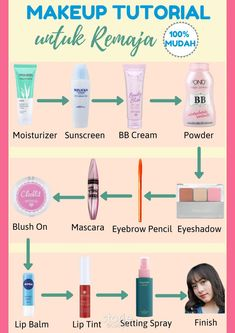 Tutor make up Skin Care Routine Steps, Skin Care Tips, Beauty Care, Beauty Skin, Makeup Order, Face Skin Care, Tips Belleza, Makeup Routine, Health And Beauty Tips
