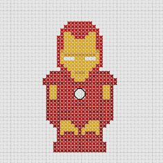 Cross stitch Marvel Avengers Iron Man.