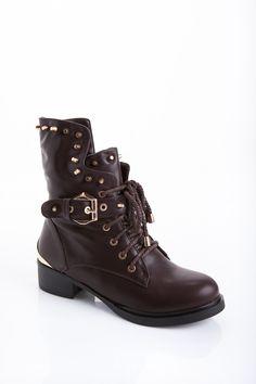 Brown Biker Boots - Boots - Shoes  http://jessyss.com/shoes/boots/brown-biker-boots.html?barva=