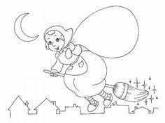 Befana vecchietta sulla scopa disegni da colorare Colouring Pages, Yule, Wicca, Crafts For Kids, Activities, Painting, Teaching Ideas, Bullet Journal, Marvel
