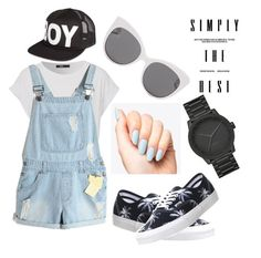 """Summer Outfit"" by safirakhairunnisa05 ❤ liked on Polyvore featuring BOY London, Blanc & Eclare, LEFF Amsterdam and Vans"