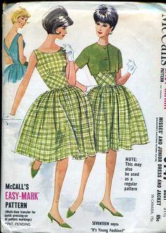 M6147 Matching mother daughter dress patterns