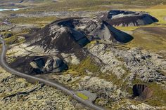Aerial view of Grabrok volcano crater and Nordic Valley Shire on highway! :) #aerial #aerialphotography #Grabrok #volcano #nordic #valley #highway #scenic #hills #travel #tour #vacation #holiday #photography