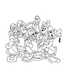 coloring page Christmas Disney - Christmas Disney