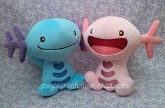 Pokemon: Wooper Pair by sugarstitch.deviantart.com on @DeviantArt