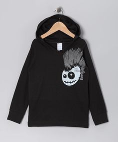 Take a look at this Black Skully Hawk Pullover Hoodie  - Toddler & Kids by Micro Me on #zulily today!