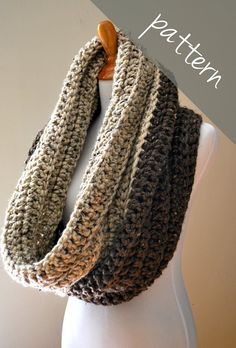 Crochet PATTERN - Oversized Cowl - Chunky Infinity Scarf - Easy