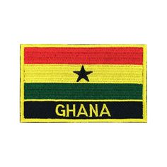 Ghana Flag Patch Embroidered Bag Hat Iron on Patch Flag Patches    Size: 3.15*1.97 inches (8*5cm)    (1 inch= 2.54 cm)    ❤Made Tough and Durable.  ❤Iron-on Backing, High quality embroidered patch.  ❤Customer Satisfaction,Warranty pay back.  ❤Shipping Via EMS Take 7-15 Business Days To US.    Iro...