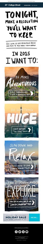Gorgeous EF College Break email marketing #inspiration