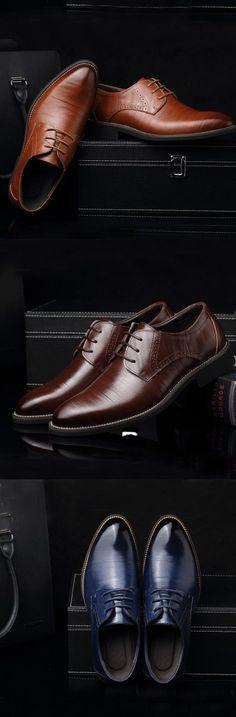 Men's Spring / Summer / Fall / Winter Comfort Leather Office & Career Flat Heel…