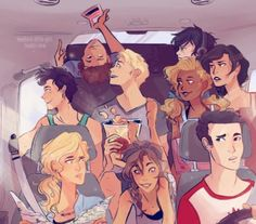 This is perfect cause Frank and Annabeth (the two control freaks) are driving. Annabeth is the only one that anyone trusts with a map. Frank would be freaked out the whole time if Percy or Jason were driving. Percy is just along for the ride/go with the flow cause you know son of the sea god and all so he doesn't care who's driving unless its Jason and then he really wants to especially if Annabeth were still navigating. But Jason trusts Frank so he's comfortable and he and Percy can be cool…