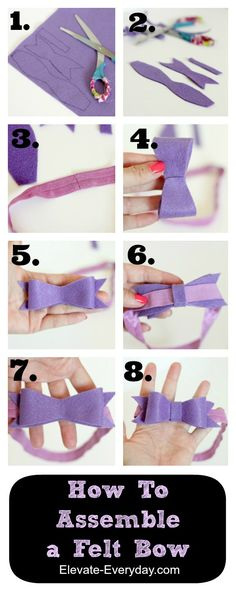 The Perfect Felt Bow Tutorial with free printable pattern from @elevateeveryday