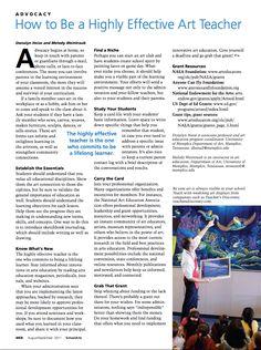 How To Become A Highly Effective Art Teacher - Art Education ideas High School Art, Middle School Art, Art Classroom Management, Class Management, Art Education Resources, Teacher Resources, Classe D'art, Art Handouts, Art Articles