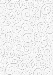 Bastelkarton Milano geprägt 50x70cm weiß