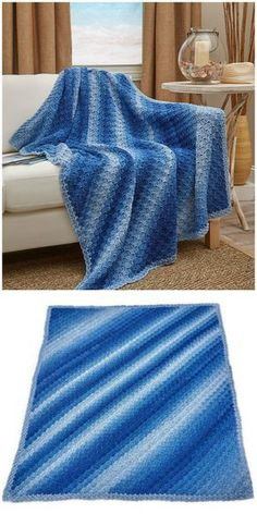 Corner-to-Corner Ombre Throw  This throw is the perfect