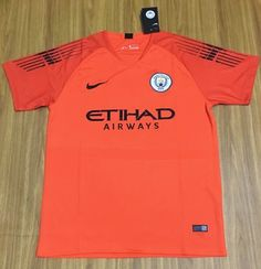 05ed9aaab 2018-19 Manchester City Goalkeeper Orange Thailand Soccer jersey AAA