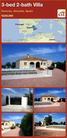 3-bed 2-bath Villa in Dolores, Alicante, Spain ►€229,000 #PropertyForSaleInSpain