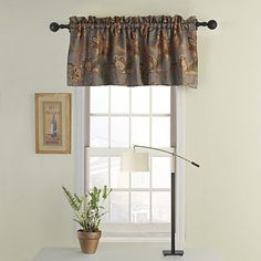 Valance Curtain with Flowers | Drapes vs Curtains Blog