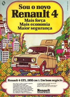 Another cool, vintage Portuguese car ad from Dias Que Voam, this time for Renault.