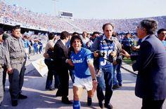 Diego Maradona during his debut season with Napoli.