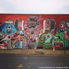 Street Art Hotspot: Murals by The Bushwick Collective in Bushwick, Brooklyn... In addition to 5 Pointz, Bushwick, Brooklyn is one of NYC's major street art hubs, with an outdoor art gallery known as the Bushwick Collective.