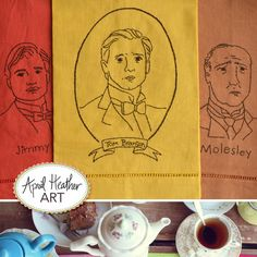 NEW to the Downton Abbey Embroidery Pattern Series: Mr. Tom Branson, Jimmy & Molesley