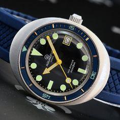 AQUADIVE Swiss Ref. 1939 Sealab 20ATM 100ATM Vintage Diver Watch ETA Cal. 2783