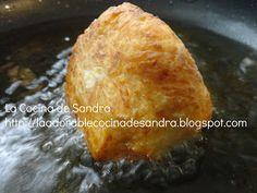 Relleno de Pana con Bacalao paso a paso. Se puede rellenar con pollo, camarones, carne, langosta, etc